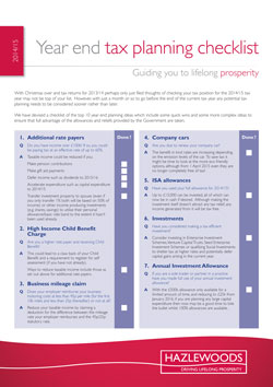 Hmrc Claim Tax Back >> Year end tax planning checklist