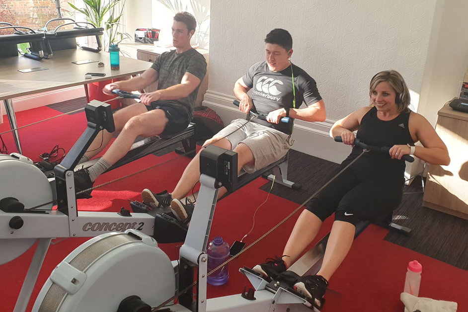 Health and Care exceed target in charity Rowathon
