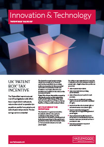 Innovation and Technology - Patent Box - Winter 2018